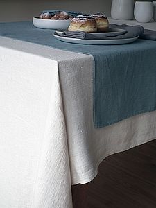 Plain Seam Linen Tablecloth Lara - bed, bath & table linen