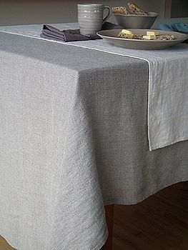 Plain Seam Linen Tablecloth Lara