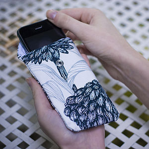Screenprinted Floral Phone Cover