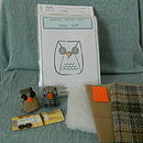Packaged kit, Little Owls and kit contents