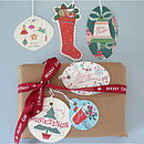 Christmas Gift Tags In Tin