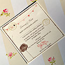 Beach Theme Personalised Wedding Invitations