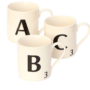 A Z Scrabble Mug Gift - crockery & chinaware