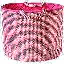 Pink Gingham Toy Storage Basket
