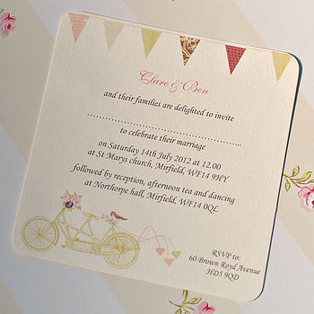 'Made For Two' Wedding Invitation Card