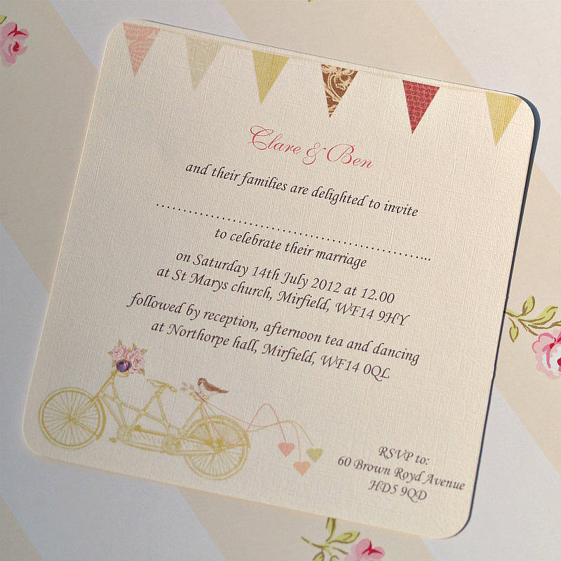 made for two wedding invitation cards by beautiful day