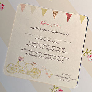 'Made For Two' Wedding Invitation Cards - invitations