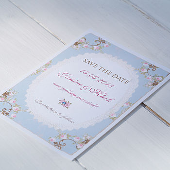 'Vintage Rose' Save The Date Cards