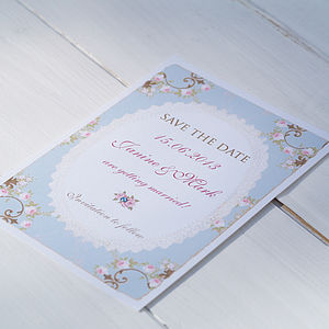 'Vintage Rose' Save The Date Cards - parties