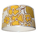Vintage Wallpaper Lampshade In Daisy