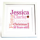 Personalised Christmas Typographic Print