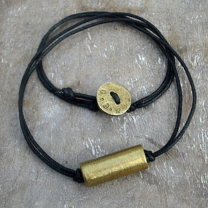 Personalised Recycled Brass Necklace - men's jewellery