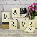 Vintage Letter Tile Giant Mr & Mrs Wall Tiles