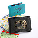 Printed Leather Campervan Card Holder