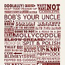 Vintage British Sayings Tea Towel