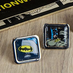 Comic Bat Super Hero Cufflinks - cufflinks