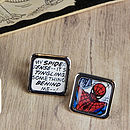 Comic Spider Super Hero Cufflinks