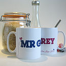 Pair Of Personalised Mr & Mrs Mugs