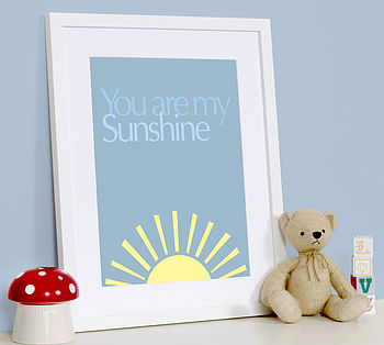 Personalised 'You Are My Sunshine' Art Print