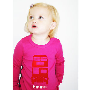 Personalised London Bus T-Shirt - t-shirts & tops