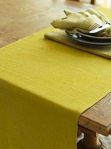 Plain Seam Linen Runner Lara - bed, bath & table linen