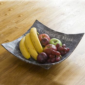 Personalised Hand Crafted Marble Square Bowl