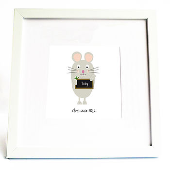 Personalised 'Christmouse' Gift Print