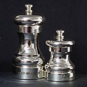 Silver Pepper And Salt Mill - salt & pepper pots