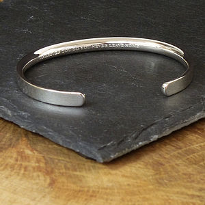 Silver Personalised Men's Bracelet - gifts for fathers