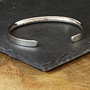mens silver bracelet personalised.
