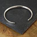 mens silver bracelet engraved.