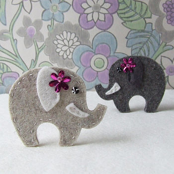 Elephant Brooch Sewing Kit