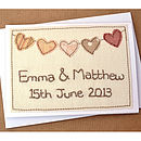 Personalised Heart Bunting Wedding Card