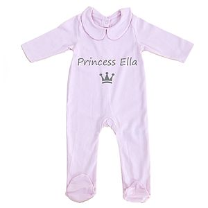 Personalised Baby 'Princess' Pyjamas