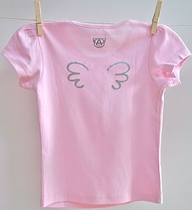 Personalised Girl's 'Angel' T Shirt