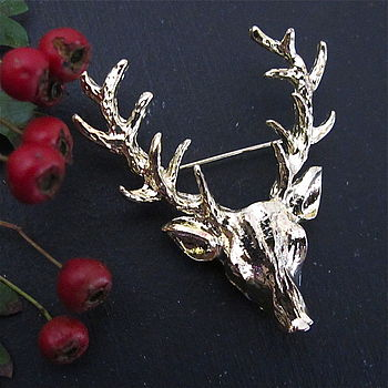 Stag Brooch Pin