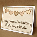 Bunting Golden Wedding Anniversary Card
