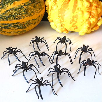 Halloween Spooky Spiders Pack Of 10