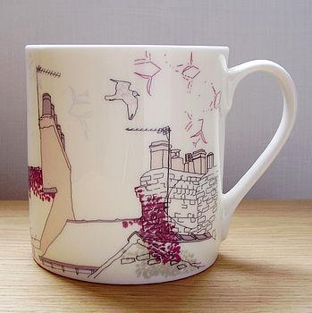 Bone China Seagull Design Mug
