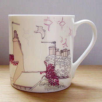 Bone China Seagull Design Mug