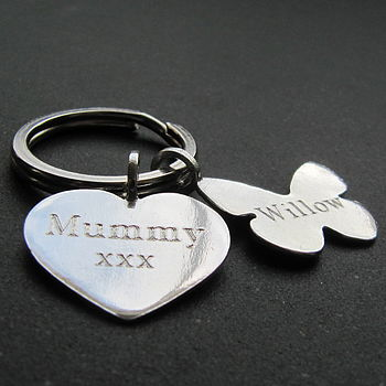 Mixed Silver Tag Key Ring