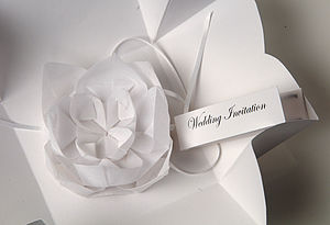 Origami Lotus Flower Invitation - wedding stationery