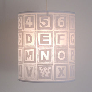 Alphabet Retro Block Lampshade