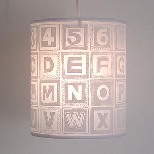 Alphabet Retro Block Lampshade
