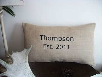 ' Personalised Est: ' Cushion