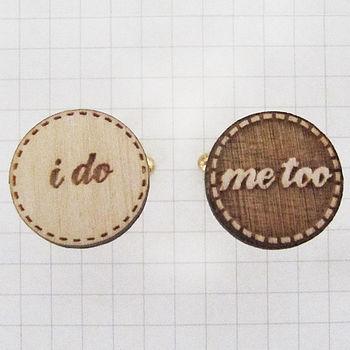 'I Do Me Too' Wedding Cufflinks