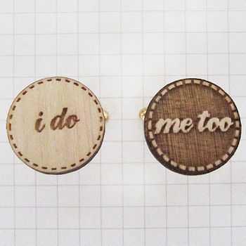 'I Do Me Too' Wedding Cufflinks