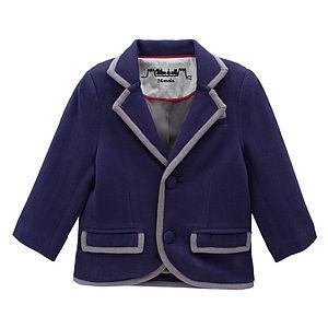 Boys Cotton Navy Preppy Blazer - coats & jackets