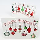 Pack Of Six Festive Wishes Christmas Cards