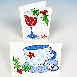 Festive Tipple Christmas Cards - cards